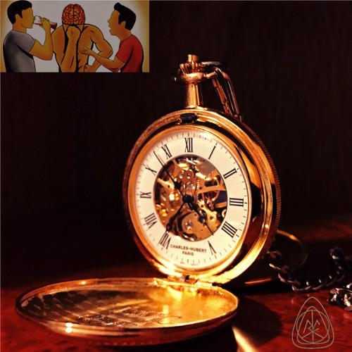 Pocketwatch with Thunken Philosofers logo